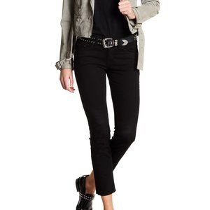 Rag & Bone Basic Black Plush Skinny Jean Size 32